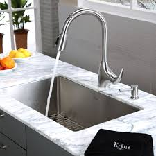 Stainless Steel Kitchen Sink Combination KrausUSAcom - Single undermount kitchen sinks