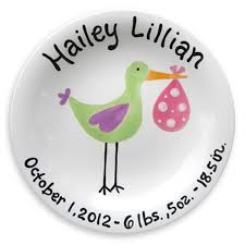 birth plates personalized just arrived stork personalized birth plate girl