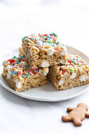 gingerbread rice krispie treats and olive