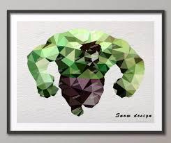 aliexpress com buy low poly modern geometric hulk canvas