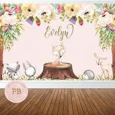 smurfs baby shower invitations digital woodland birthday backdrop woodland baby shower backdrop