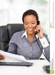 employé de bureau téléphone d employé de bureau image stock image du noir collet