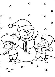 kids snowman coloring sheets kids making a snowman coloring