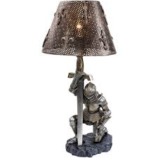 Military Home Decorations by Medieval Knight War Battle Sculptural Lamp Military Gift