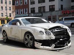new bentley truck another wrecked bentley just one of nyc u0027s many car crashes
