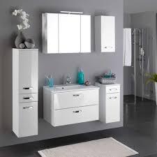 badezimmer komplett set badezimmer komplettset nileon in hochglanz weiß pharao24 de