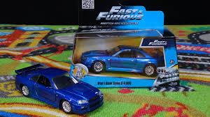 nissan gtr skyline r34 fast u0026 furious brian u0027s blue nissan skyline r34 1 32 jada toys