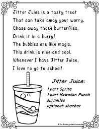 Wemberly Worried Worksheets Jitter Juice Recipe Jitter Juice Juice And Activities