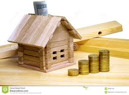 Small House Construction A Small House Standing At Building Materials And Coins Credit F