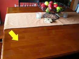 how to remove stains from wood table removing white burn stains on wood tables dishin dishes
