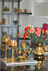Interior Decoration Indian Homes Like This Look With Ganesha And Hanging Lamps Decor Pinterest
