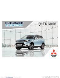 mitsubishi outlander hybrid 2014 3 g owners handbook