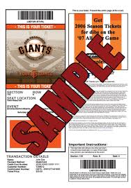 print your tickets at home san francisco giants