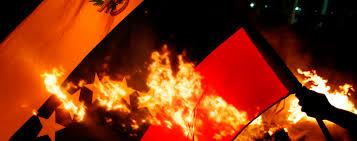 Burning Red Flag Venezuela Flag Burning Big Latin America Bureau