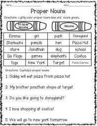 proper noun worksheets for 2nd grade worksheets
