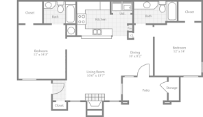 Two Bedroom Floor Plans 2 Bedroom Floor Plans Crowne Club Stylish Apartments In Winston