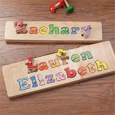 kid s personalized name puzzle board