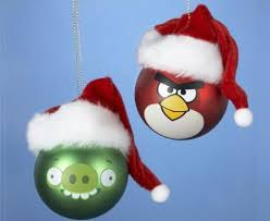 angry birds santa hats ornament set instabuys
