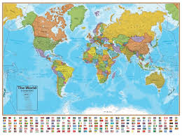 Large World Map Poster by Wall Map Of The World Laminated Just 19 99