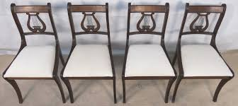 Antique Regency Dining Chairs Set Of Six Antique Regency Style Mahogany Harp Back Dining Chairs