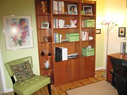 decoration small modern study room with cream wall color interior