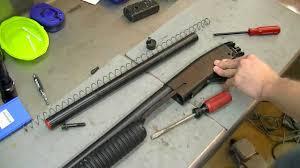 savage 69rxl series e teardown 1of2 12gauge pistol grip shotgun