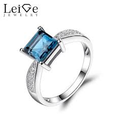 engagement rings london aliexpress buy leige jewelry london blue topaz ring square