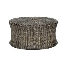rattan coffee table outdoor round rattan coffee table cole papers design make a rattan