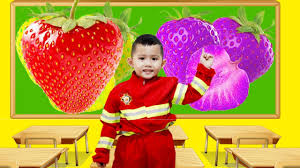 joker learn color fragaria spiderman paint strawberry