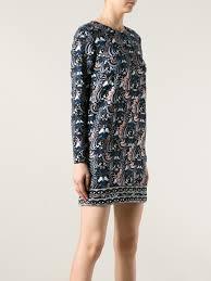 kenzo eye print dress in blue lyst