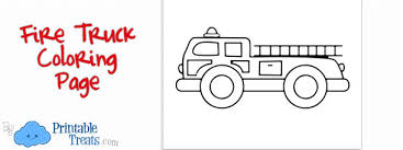 printable fire truck coloring u2014 printable treats