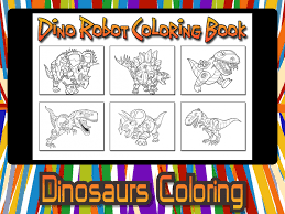 dino robot coloring book kids free fun painting games apps