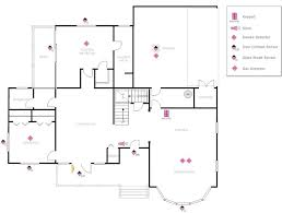 Draw Your Own Floor Plans Example Image House Plan With Security Layout Dimensions In