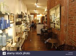 july 24 2012 new york ny u s interior views at parlor hair