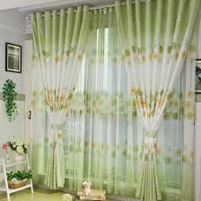Buy Discount Curtains Spring Floral Printing Poly And Linen Green Curtains Buy Bud