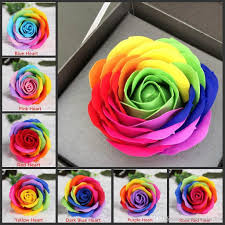 Red Rose Bathroom Accessories 2017 Sale Colorful Rose Soaps Flower Packed Wedding Supplies