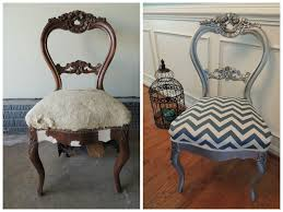 antique victorian balloon back parlor chair painted with rustoleum