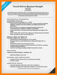 Commercial Truck Driver Resume Sample 7 Truck Driver Resume Examples Doctors Signature