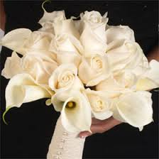 calla lilies bouquet bdx20 ivory roses and white calla lilies bridesmaids bouquet