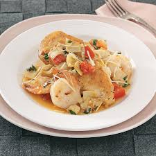 Dinner Ideas Using Chicken Chicken With Artichokes And Shrimp Recipe Taste Of Home