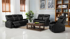 lazyboy hollywood 3 2 1 bonded leather recliner sofa suite black