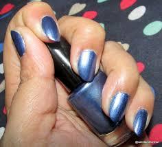 oriflame very me metallic nail polish blue passion review miss