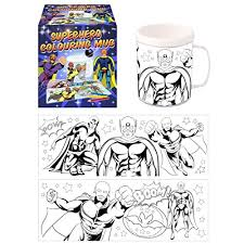 superhero colouring mug colour arts u0026 crafts amazon