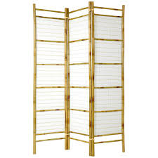 Room Dividers At Home Depot - 6 ft natural 3 panel burnt bamboo room divider sscbbrp the home