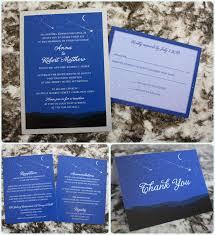 Royal Blue Wedding Invitations Royal Blue Moon U0026 Stars Over Mountains Astronomy Wedding