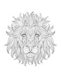 ideas printable mandala lion drawing template sample