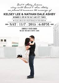 Lds Wedding Invitations Kelsey And Nathan Utah Announcements