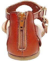 madden sukie flat thong gladiator sandals in brown cognac
