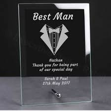personalised engraved wedding glass plaque best man gift ebay