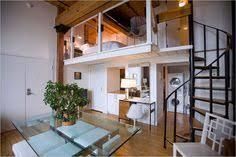 pretty suspended bedroom for the small area split level loft